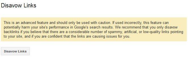 google disavow tool agreement