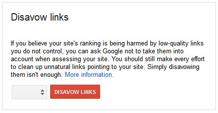 how to disavow links to google