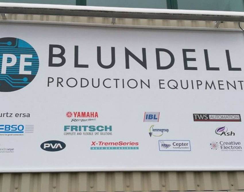 blundell production equipment sign