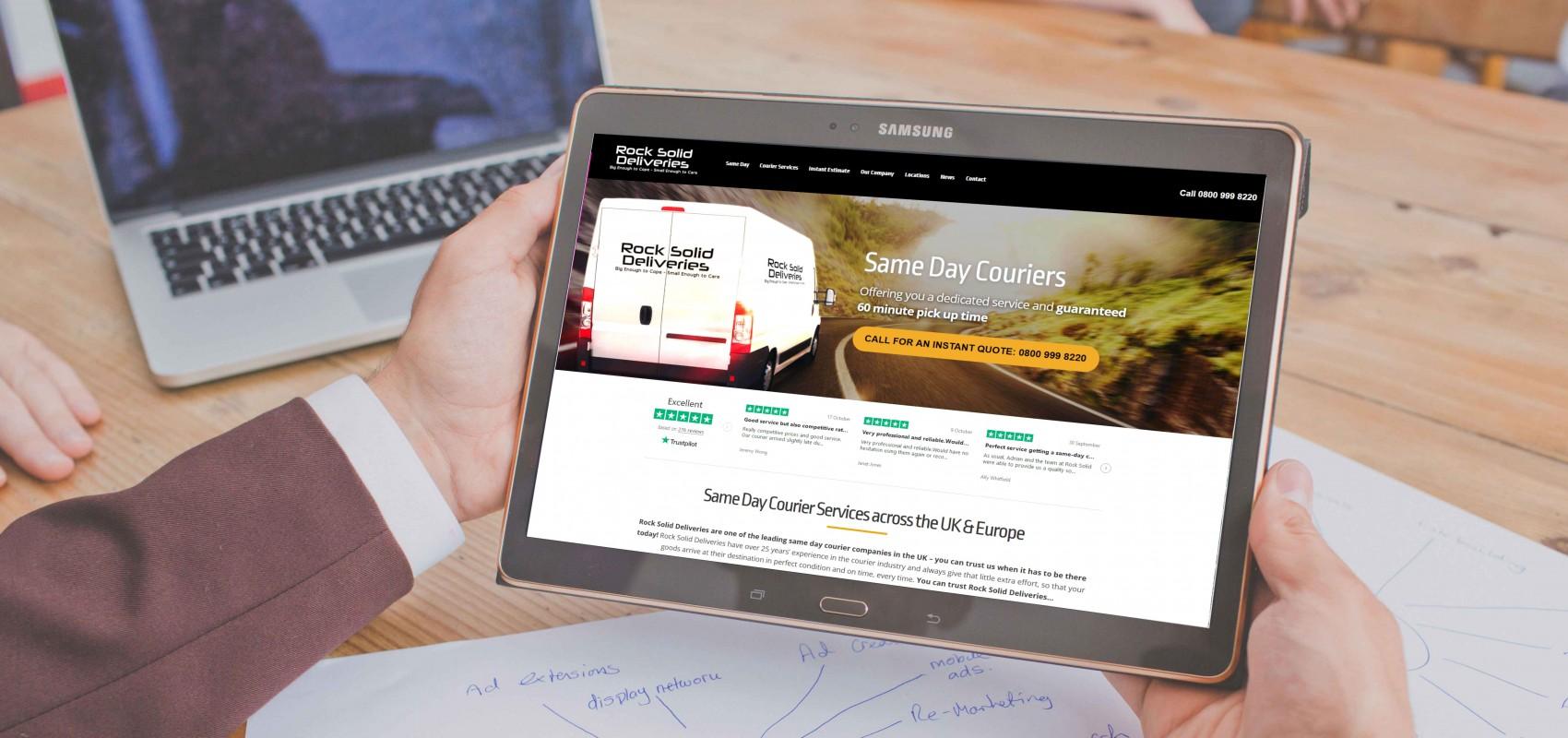 Rock Solid Deliveries Website
